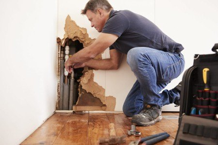 Dry out the affected area and remove damaged materials